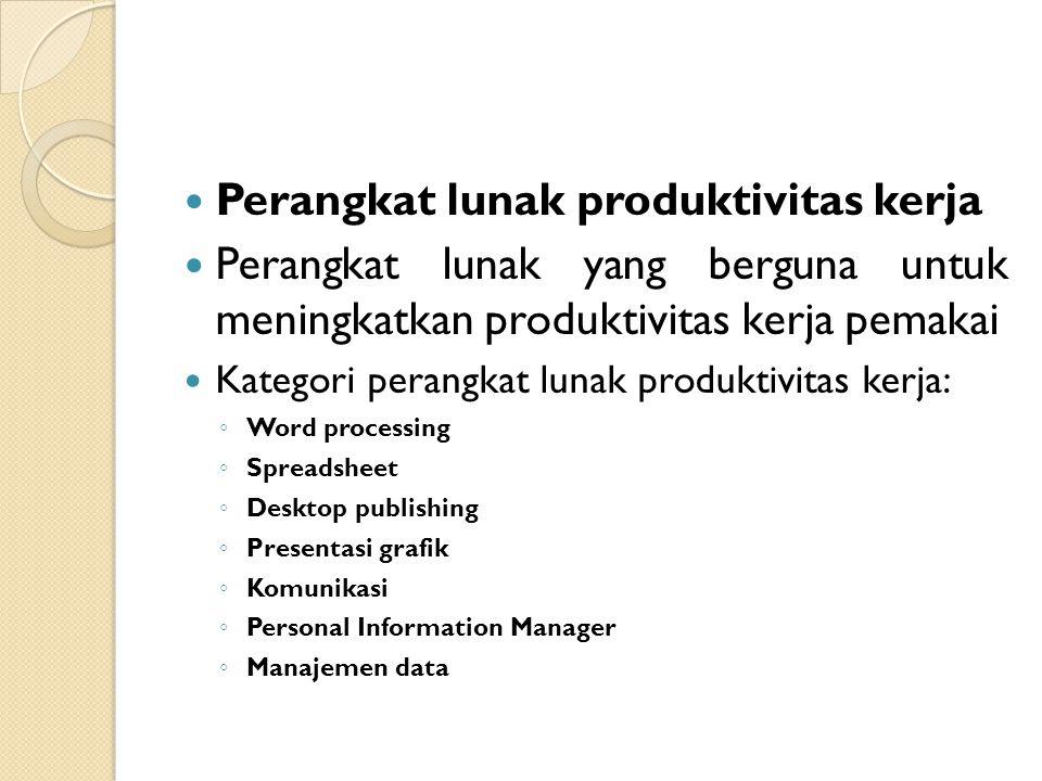Perangkat lunak produktivitas kerja