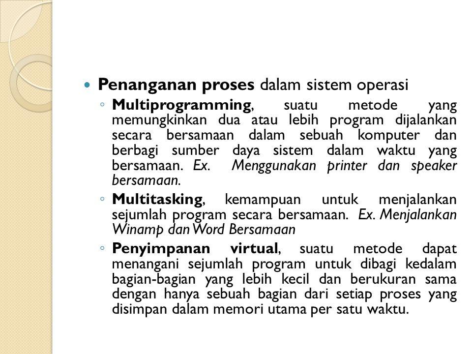 Penanganan proses dalam sistem operasi
