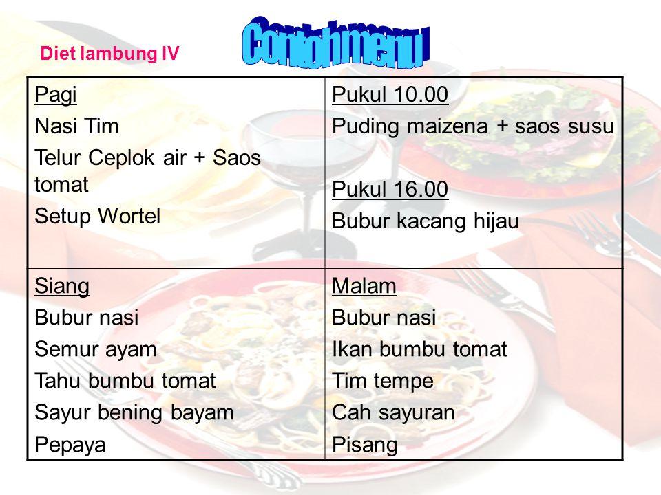 Contoh menu Pagi Nasi Tim Telur Ceplok air + Saos tomat Setup Wortel