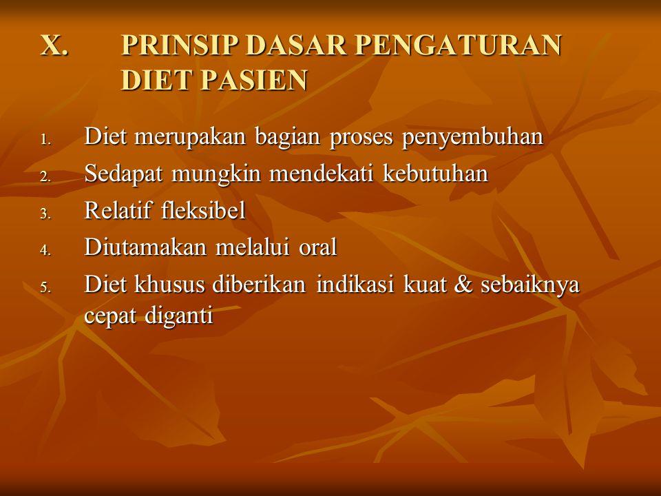 PRINSIP DASAR PENGATURAN DIET PASIEN