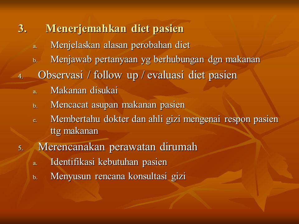 Menerjemahkan diet pasien