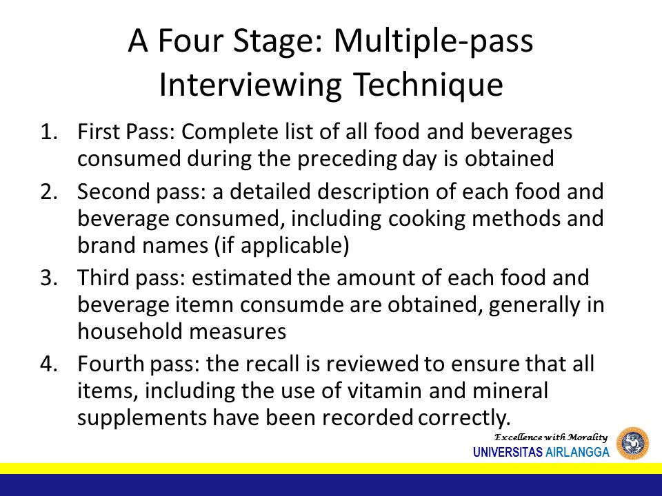 A Four Stage: Multiple-pass Interviewing Technique