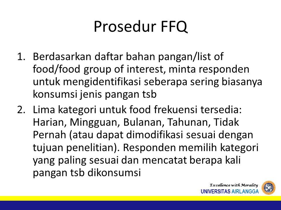 Prosedur FFQ