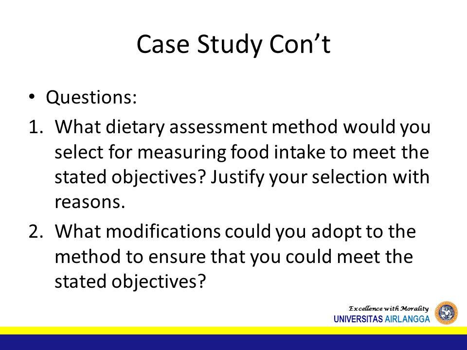 Case Study Con't Questions: