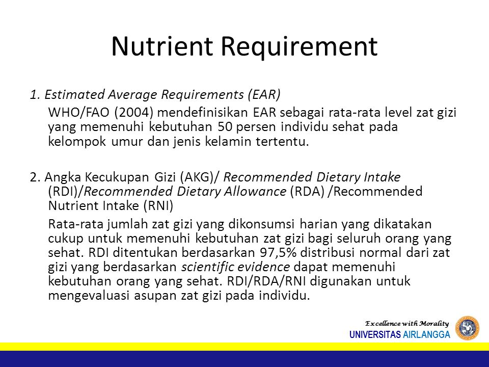 Nutrient Requirement