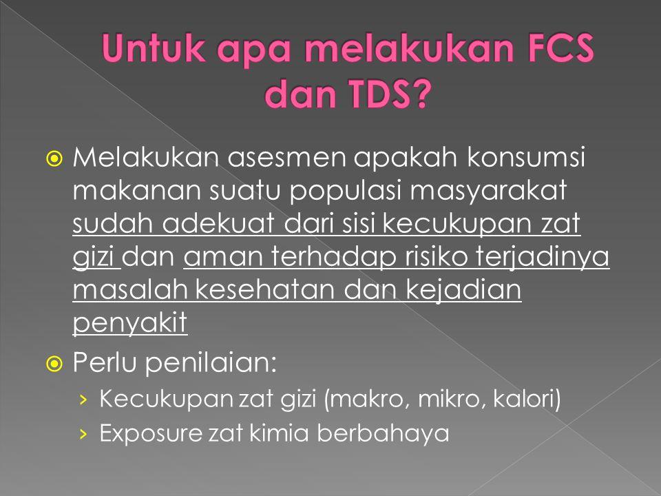 Untuk apa melakukan FCS dan TDS