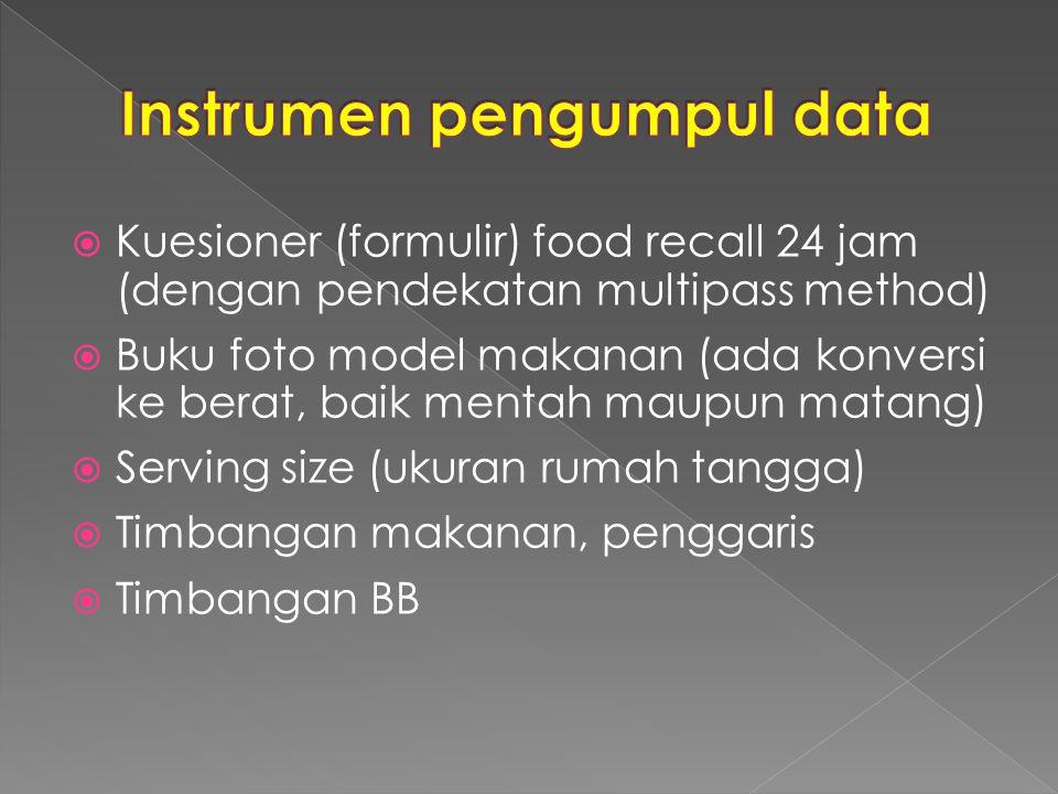 Instrumen pengumpul data