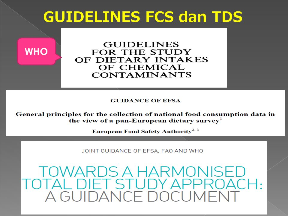 GUIDELINES FCS dan TDS WHO