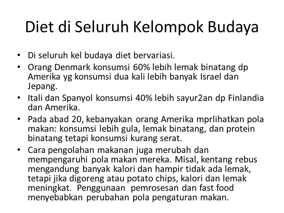 Diet di Seluruh Kelompok Budaya