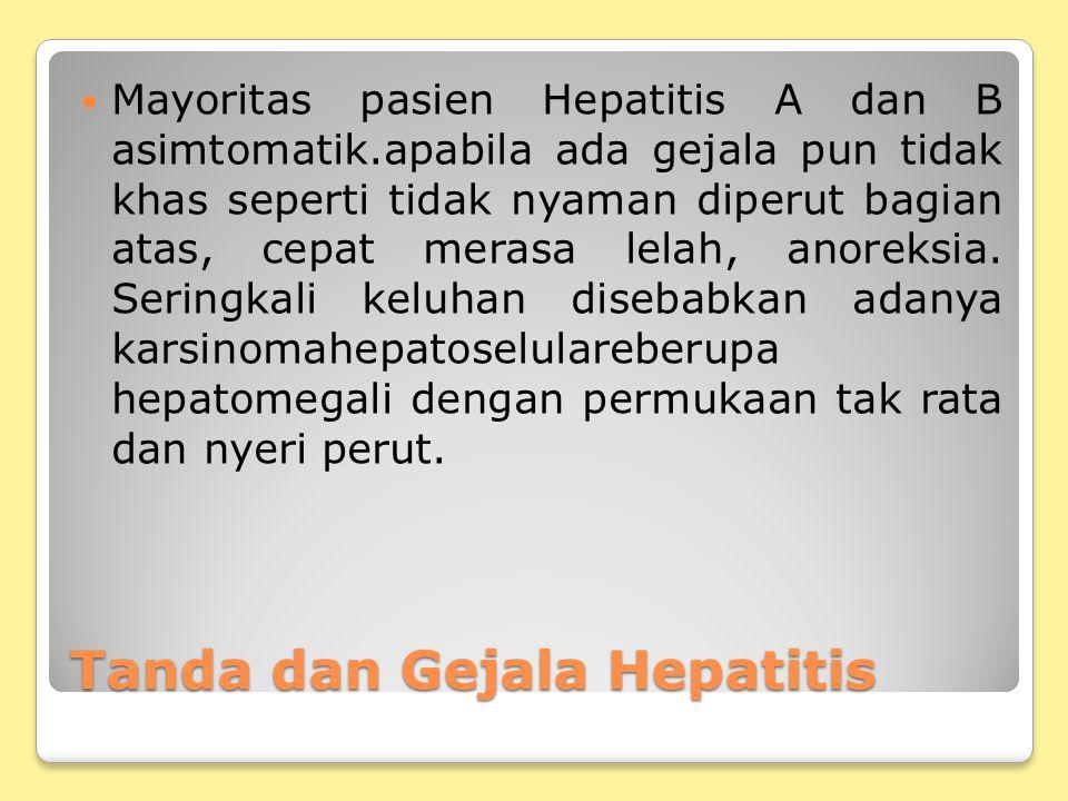 Tanda dan Gejala Hepatitis