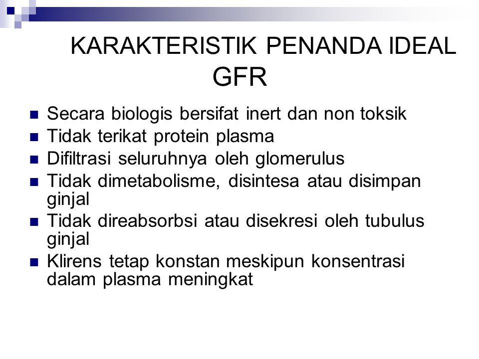 KARAKTERISTIK PENANDA IDEAL GFR