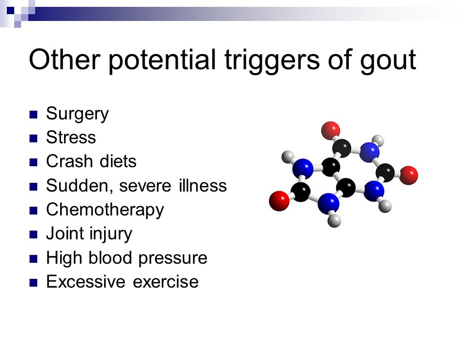Other potential triggers of gout