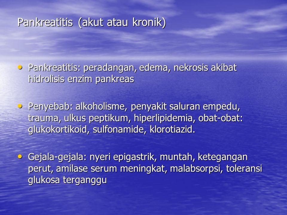 Pankreatitis (akut atau kronik)