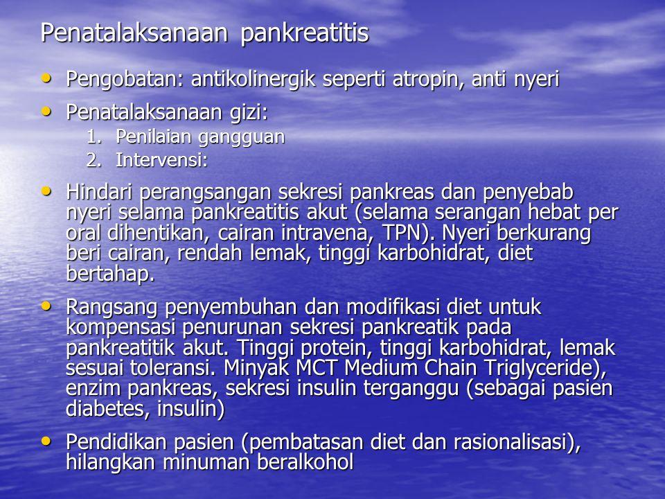 Penatalaksanaan pankreatitis