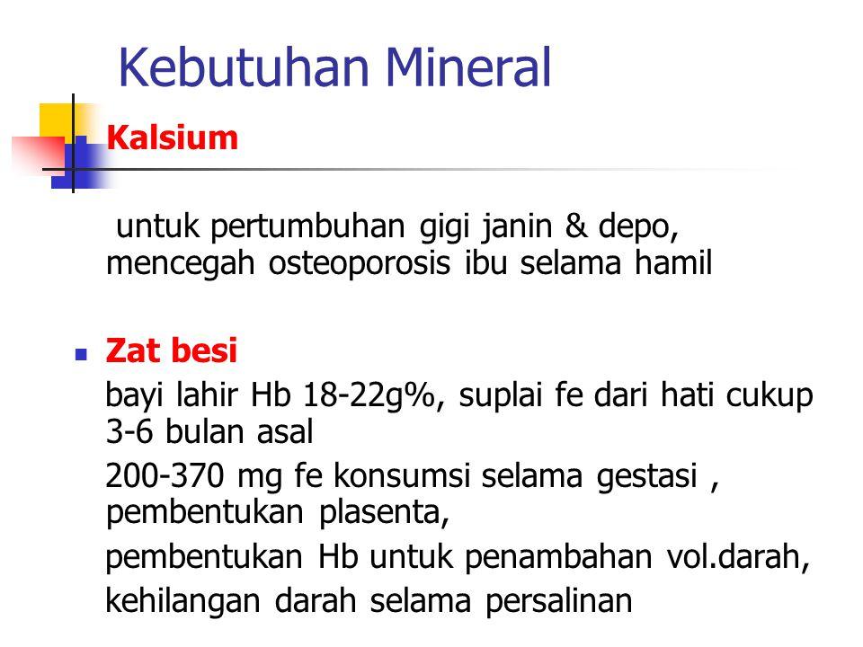 Kebutuhan Mineral Kalsium