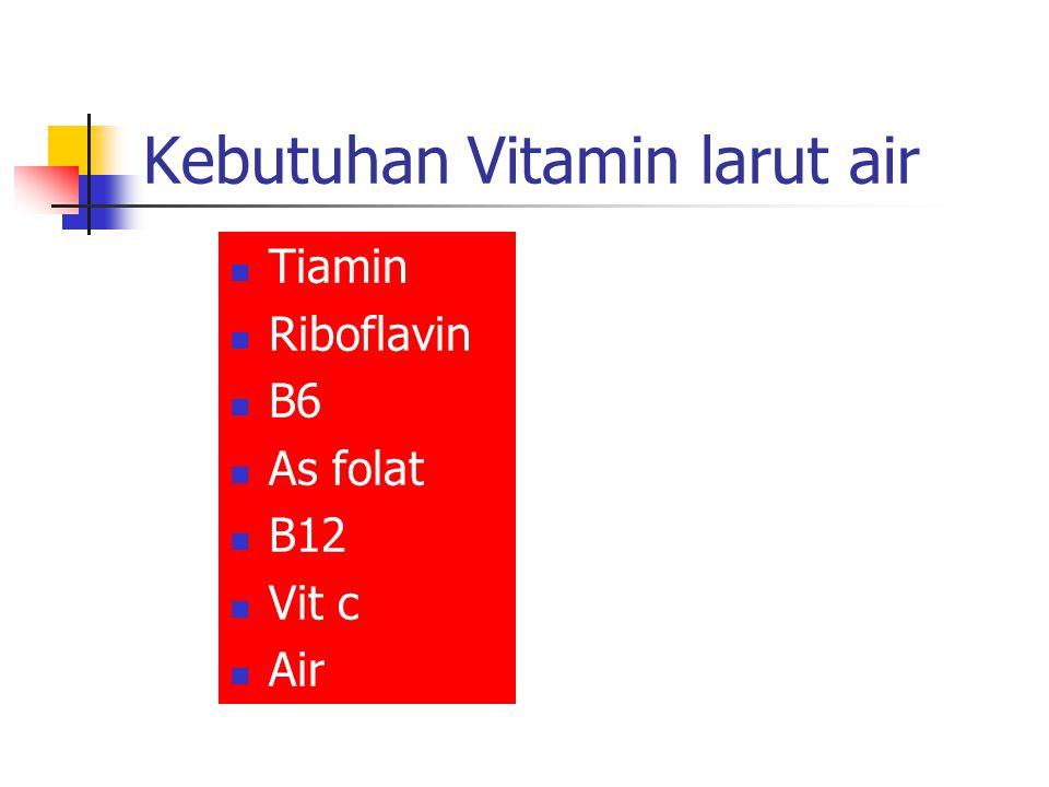 Kebutuhan Vitamin larut air