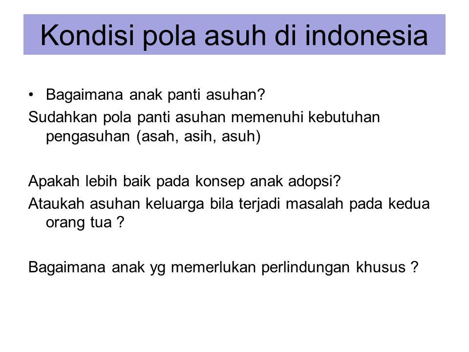 Kondisi pola asuh di indonesia