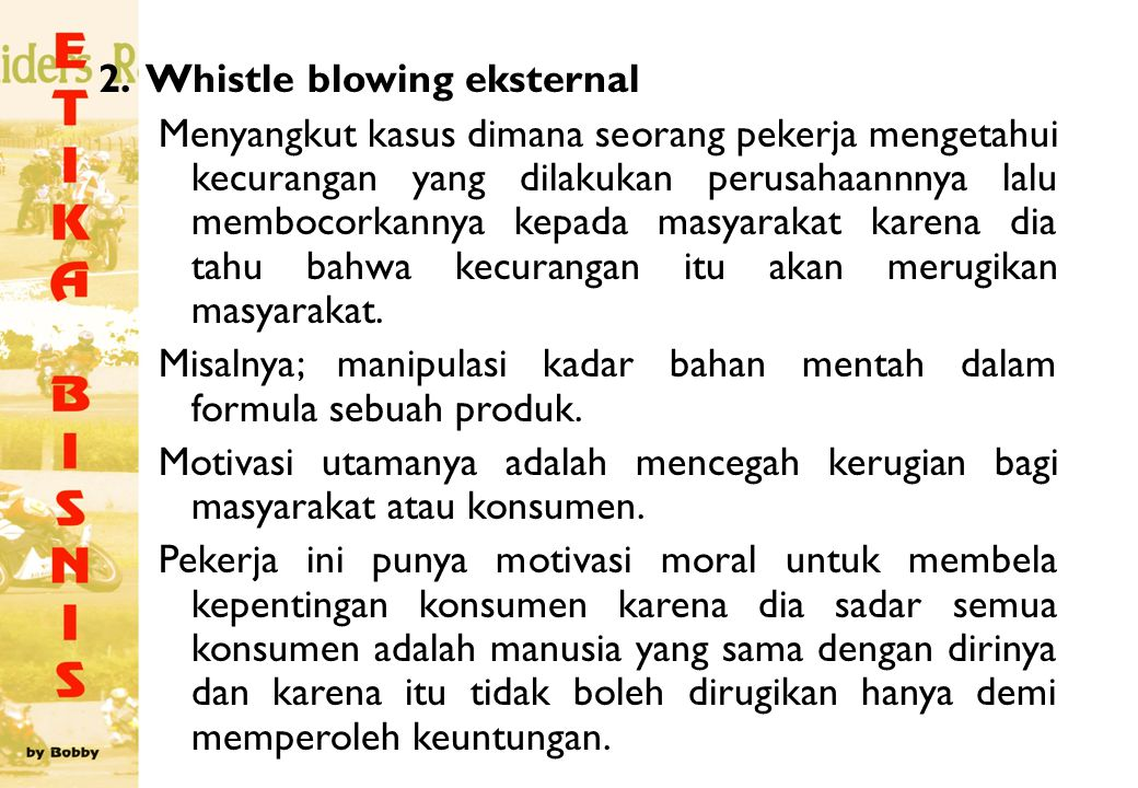 2. Whistle blowing eksternal