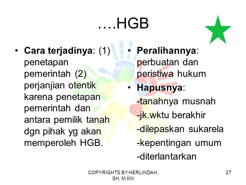 COPYRIGHTS BY HERLINDAH, SH, M.KN