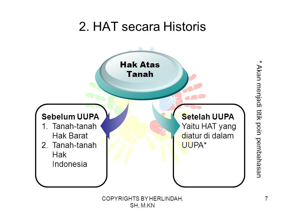 2. HAT secara Historis Hak Atas Tanah Sebelum UUPA