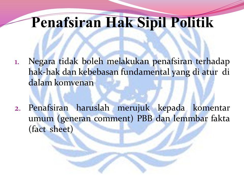 Penafsiran Hak Sipil Politik