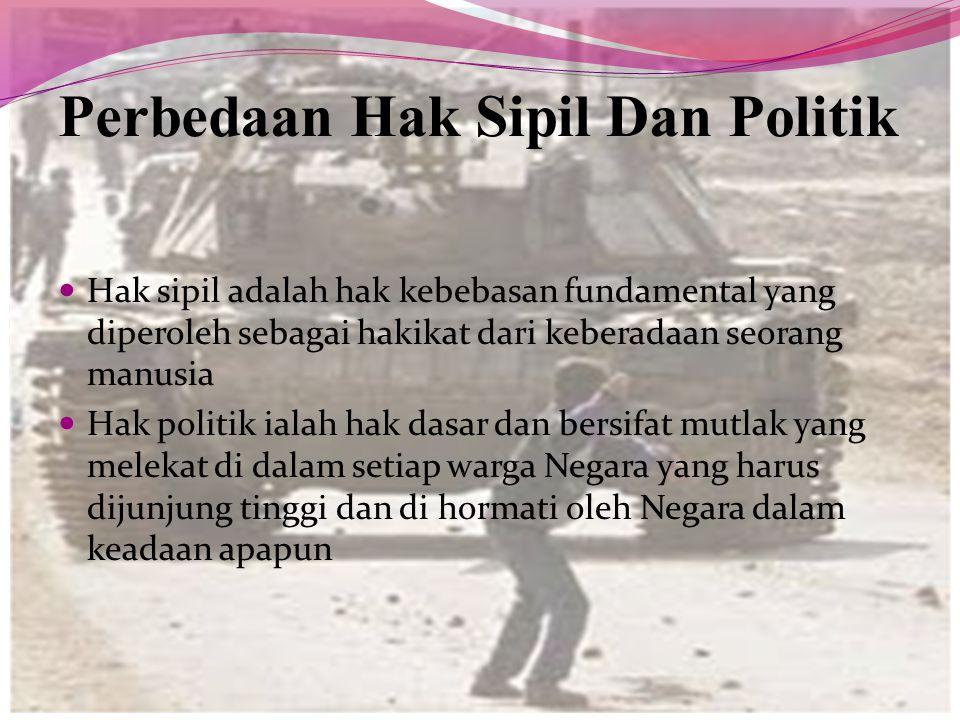 Perbedaan Hak Sipil Dan Politik