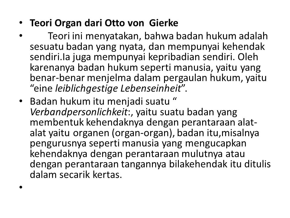 Teori Organ dari Otto von Gierke