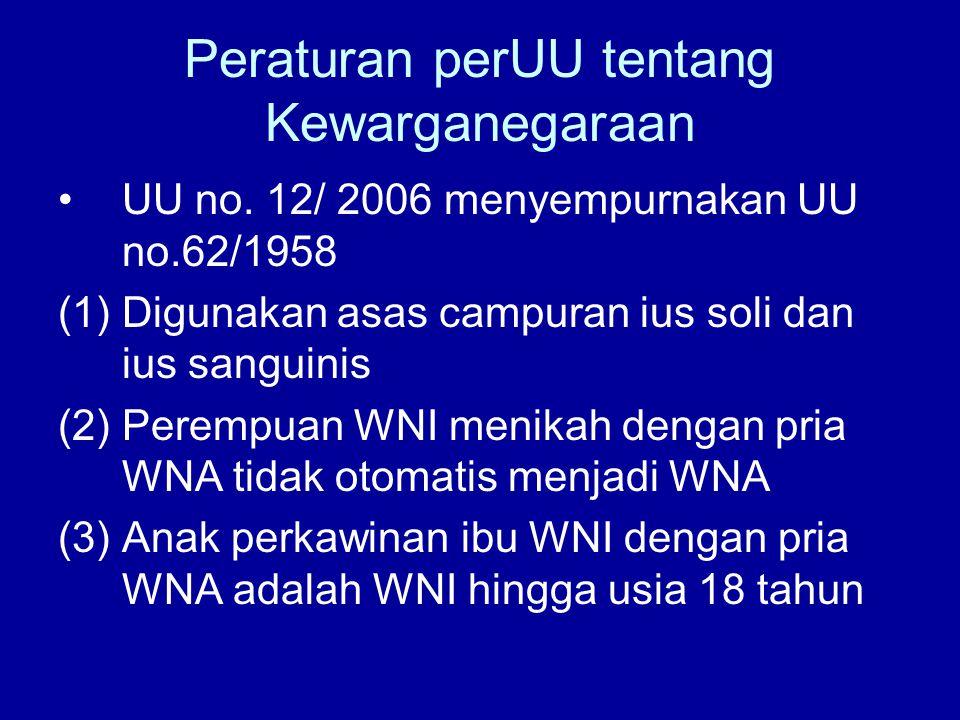 Peraturan perUU tentang Kewarganegaraan