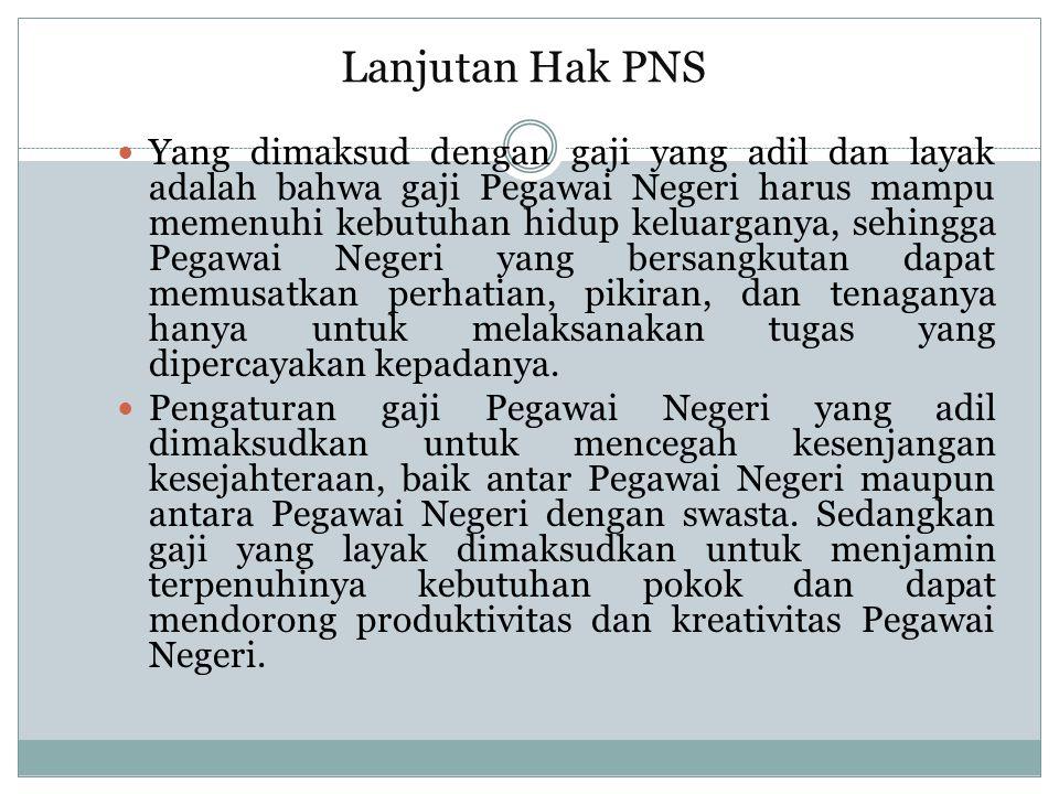 Lanjutan Hak PNS