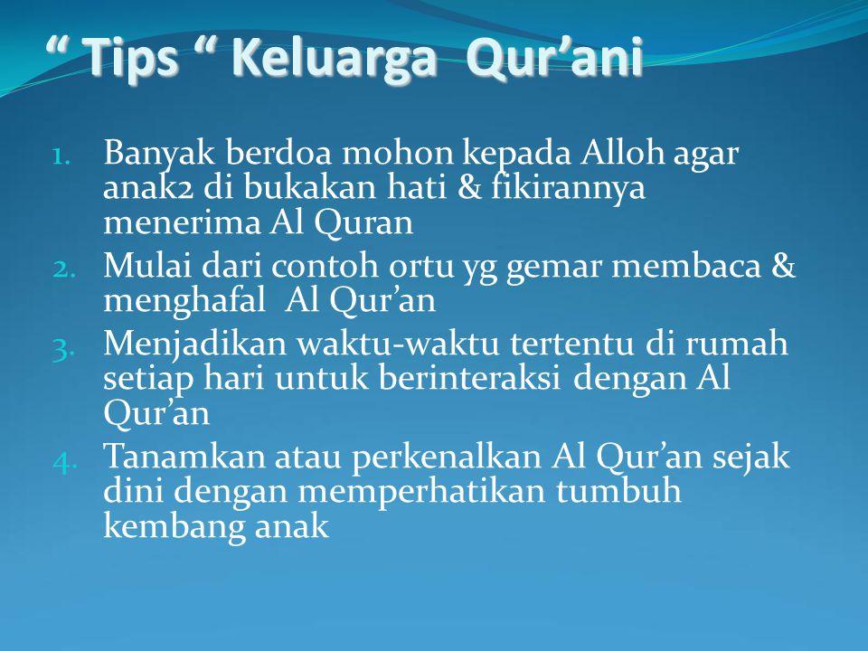 Tips Keluarga Qur'ani