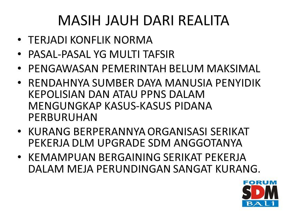 MASIH JAUH DARI REALITA