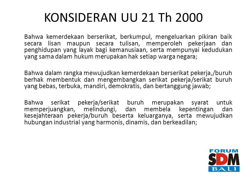 KONSIDERAN UU 21 Th 2000