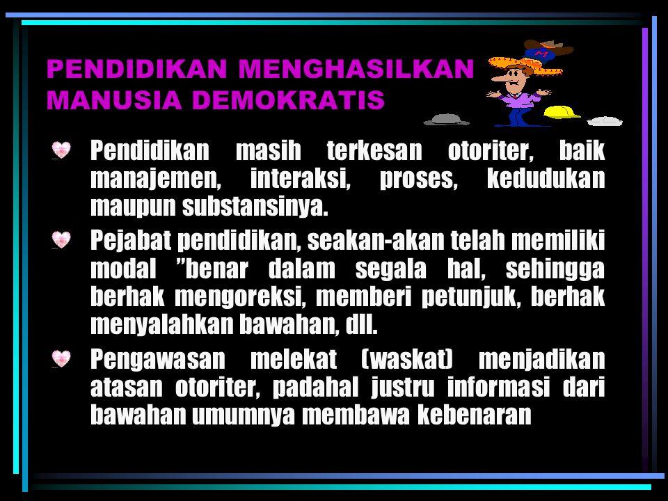 PENDIDIKAN MENGHASILKAN MANUSIA DEMOKRATIS