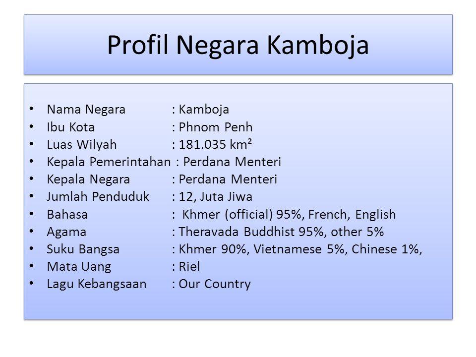 Profil Negara Kamboja Nama Negara : Kamboja Ibu Kota : Phnom Penh