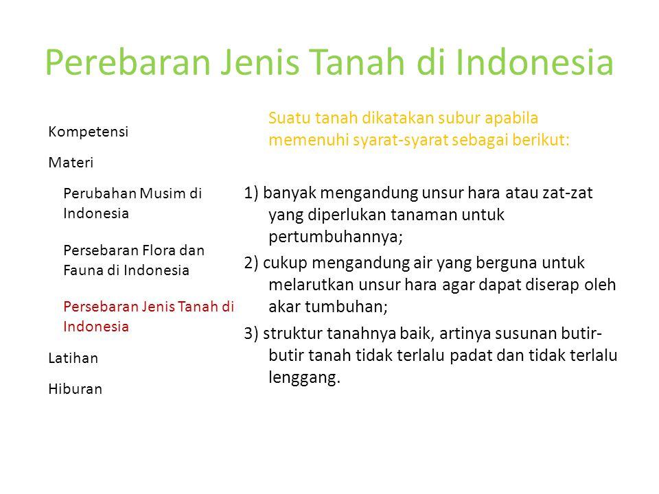 Perebaran Jenis Tanah di Indonesia