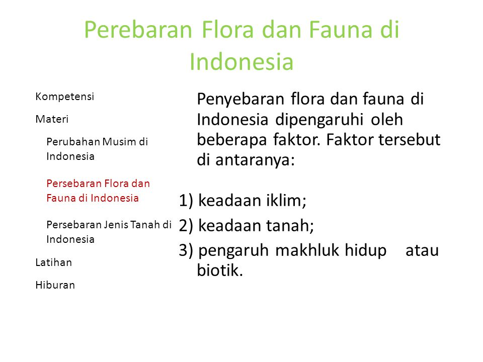 Perebaran Flora dan Fauna di Indonesia