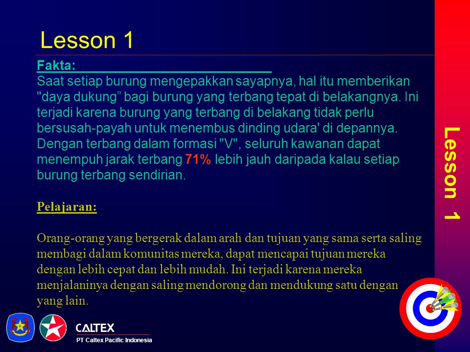 Lesson 1 Lesson 1. Fakta: