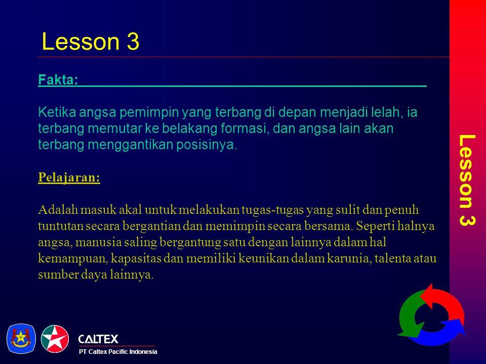 Lesson 3 Lesson 3. Fakta: