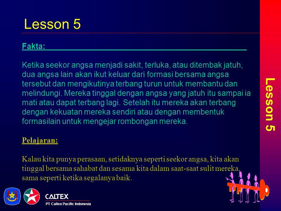 Lesson 5 Lesson 5. Fakta: