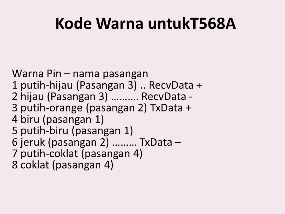 Kode Warna untukT568A
