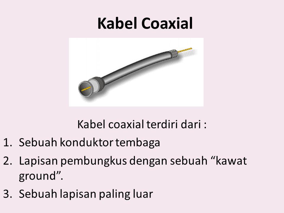 Kabel coaxial terdiri dari :