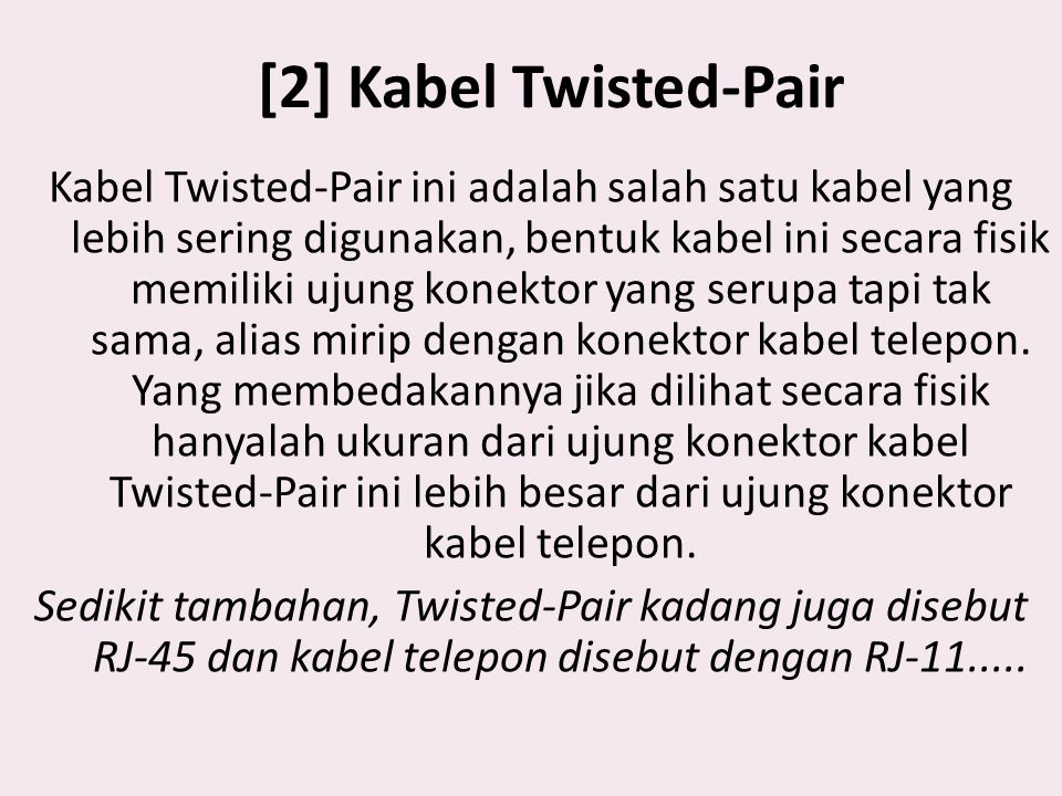[2] Kabel Twisted-Pair