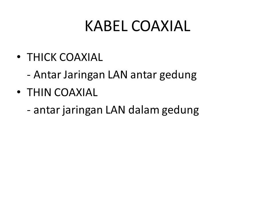 KABEL COAXIAL THICK COAXIAL - Antar Jaringan LAN antar gedung