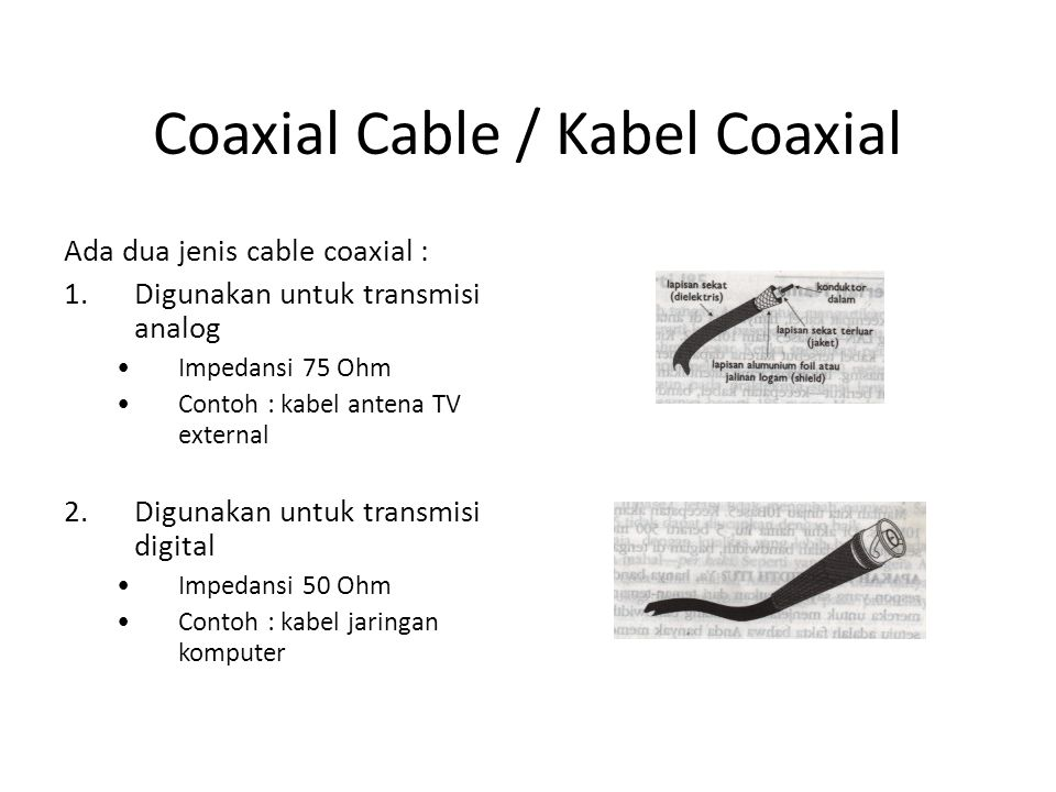 Coaxial Cable / Kabel Coaxial