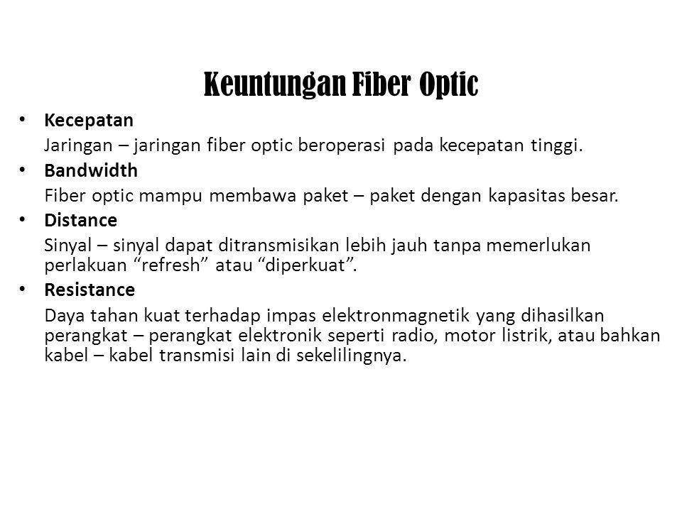 Keuntungan Fiber Optic