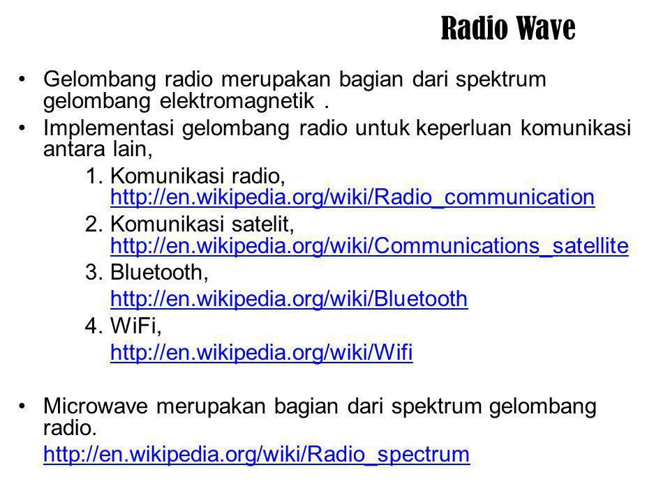 Radio Wave Gelombang radio merupakan bagian dari spektrum gelombang elektromagnetik .