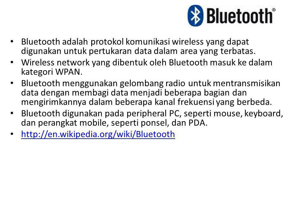 Bluetooth adalah protokol komunikasi wireless yang dapat digunakan untuk pertukaran data dalam area yang terbatas.