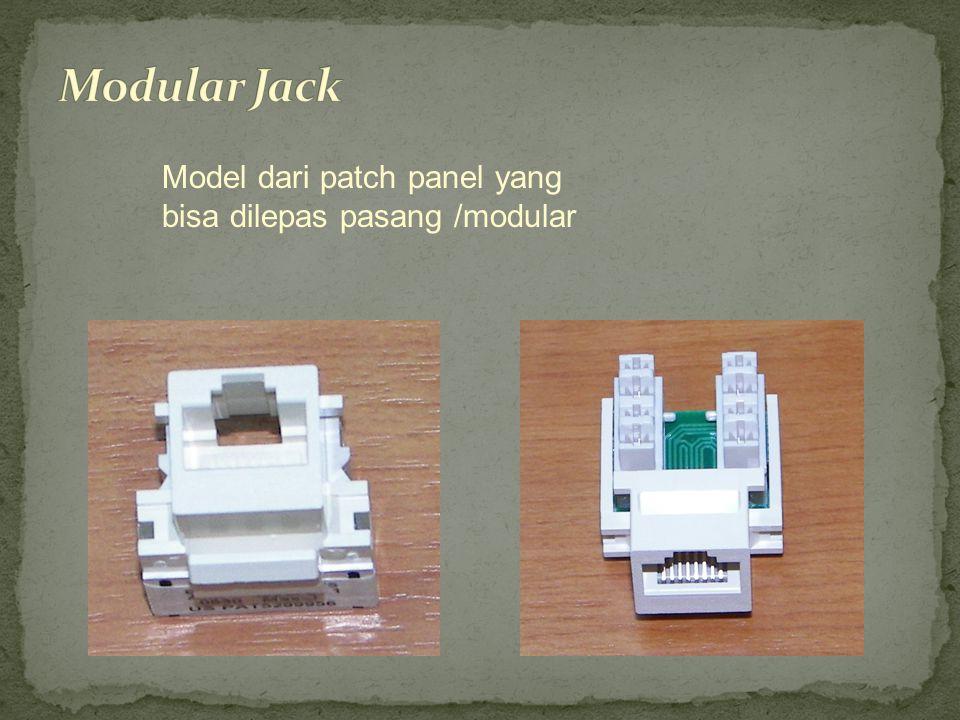 Modular Jack Model dari patch panel yang bisa dilepas pasang /modular