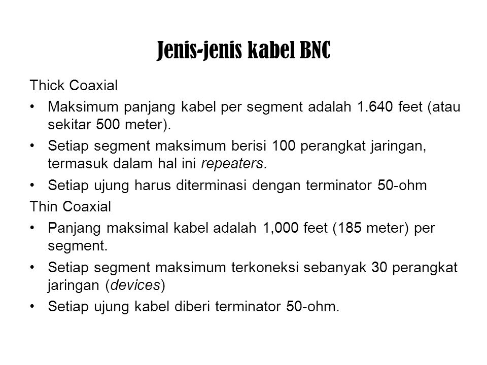 Jenis-jenis kabel BNC Thick Coaxial