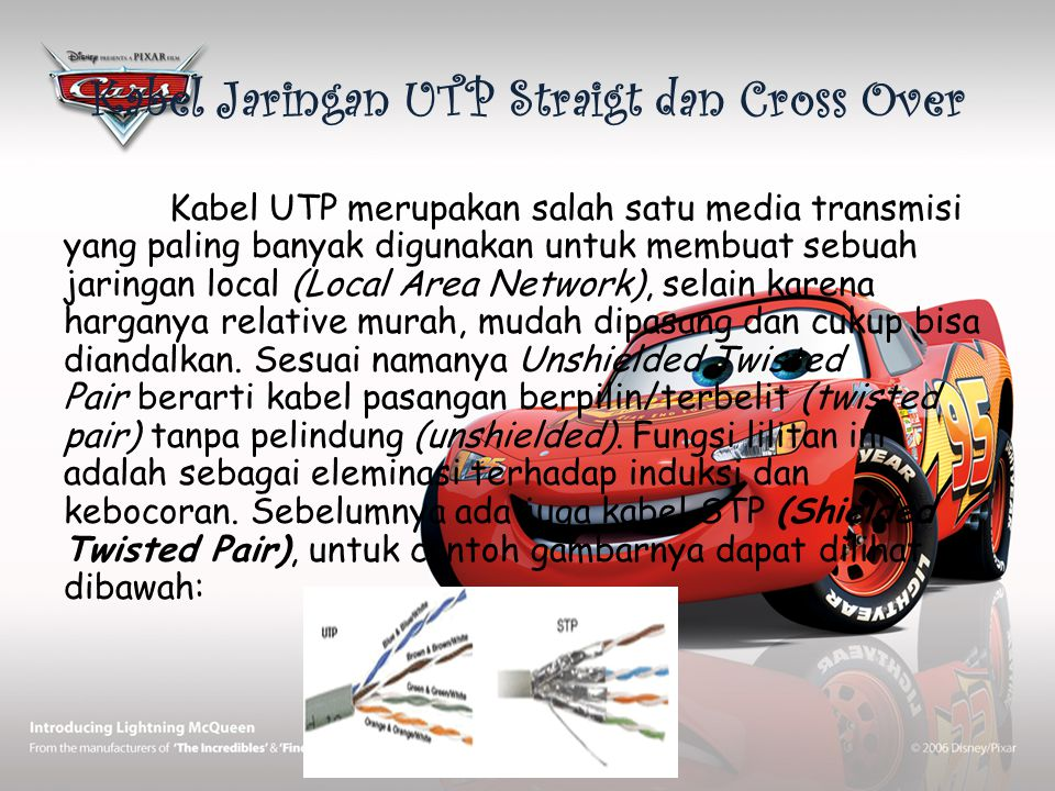 Kabel Jaringan UTP Straigt dan Cross Over